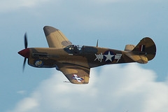Curtis P40 Warhawk foi um caça monomotor norte-americano utilizado para ataque ao solo durante a Segunda Guerra. A produção dos P-40s terminou em novembro de 1944 sendo produzidas 13738 unidades e utilizadas por 28 países até 1948. Warhawk foi o nome que o United States Army Air Corps (USAAC) adotou enquanto que as forças aéreas britânicas deram-lhe o nome de Tomahawks aos modelos equivalentes aos P-40B e P-40C, e Kittyhawk aos modelos equivalentes ao P-40E e versões posteriores. Entre 1941 e 1944, o P-40 teve um papel fundamental para as forças aéreas aliadas em 5 grandes teatros da guerra: China; Mediterrâneo; Sudeste da Ásia; Sudoeste do Pacífico e na Europa Oriental. O P-40 teve seu batismo de fogo em agosto de 1942 ao serem utilizados pela RAF no Norte da África e Oriente Médio. Especificações Técnicas: Comprimento:9,66 m ,envergadura:11,38 m , altura:3,76 m , motor: 1 x motor a pistão V12 refrigerado a líquido, velocidade máxima:580 km/h, teto máximo:8800m, armamentos: 6 x metralhadoras Browning cal. .50 de 12,7 mm , bombas de 110 kg à 450 kg.