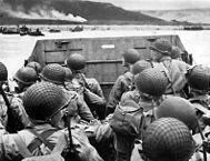 A Operação Overlord , praia de Omaha , (Landing Craft Vehicle Personnel)