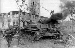 Panzer IV destruído - Batalha de Starlingrad