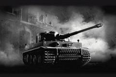 Sd.Kfz. 181 Panzerkampfwagen VI Ausf. E - Tiger I - Principais características: Tanque pesado com capacidade de destruir qualquer carro de combate da época. Possuía um canhão de 88 mm e uma blindagem capaz de suportar diversos impactos de vários tipos de canhões de alto calibre. Em contrapartida possuía baixa velocidade e curto alcance. Sua caixa de cambio apresentava problemas frequentemente e muitas vezes acabavam sendo destruídos pela própria tripulação. - Blindagem: 25 a 110 mm - Velocidade: 38Km/h - Armamento: Canhão de 8.8 cm KwK 36 L/56 92 disparos e duas metralhadoras MG34 de 7.92 mm 4.800 disparos. - Tripulação: 5 - comandante, artilheiro, armador, operador de rádio/metralhadora e motorista.
