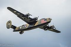 O B-24 Liberator foi produzido em maior número que qualquer outra aeronave americana na Segunda Guerra Mundial. O B-24 não era tão belo quanto seu parceiro o B-17 mas podia transportar 4 toneladas de bombas muito mais longe que os B-17. Devido as suas finas asas Davis, era difícil sua manutenção em grandes altitudes. Dessa forma, como não podia alcançar grande altitudes com os B-17, os B-24 ficavam vulneráveis aos caças e ao fogo das armas anti-aéreas. Mesmo assim essa aeronave demonstrou ser duro nas batalhas que enfrentou.