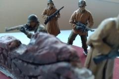 Pelotão de soldados norte-americanos  - Batalha do Bulge
